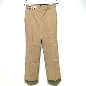 NWT Talbots Tan Heritage Straight Leg Trouser Pant